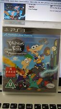 Phineas and Ferb Across the 2nd Dimension Game + 4 free Episodes PS3 New