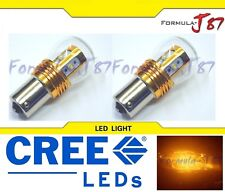 LED Light 25W 1156 Amber Orange Two Bulbs Back Up Reverse Replacement Show Use