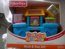 Fisher Price Peek A Blocks Rock and See Ark NIB