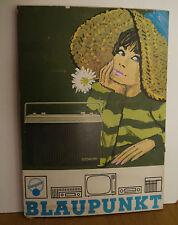 Superbe affiche vintage  radios  Hifi  Blaupunkt   70's sur carton