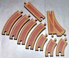 Thomas & Friends Wooden Railway Red Stripe TRAIN TRACKS (9 PIECES) Rare switch