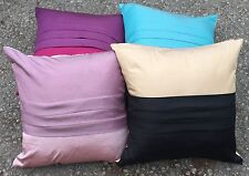 "Set Of 4 Cannes Pleated Cushion Covers 18""x18"" 2 Colours £9.99 set free P&P"