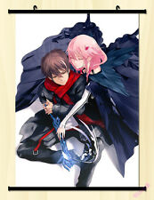 Guilty Crown Yuzuriha Inori Ouma Shu Cosplay Scroll Painting Wall Poster Anime