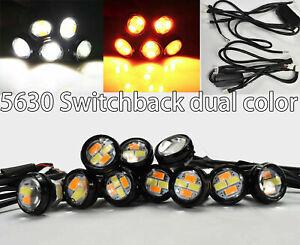DRL 23mm Switchback Eagle eye Puddle Light Aluminum Turn Signal LED For A V S
