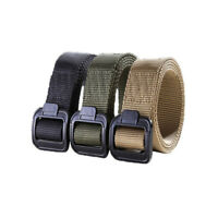 Men's Tactical Military Outdoor Combat Canvas Belt Buckle Strap Sports Waistband
