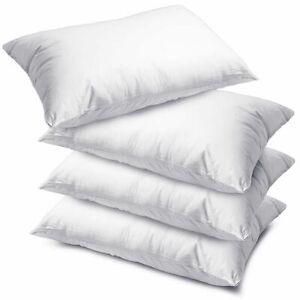 Pack of 1 , 2, 4 or 8 Luxury Deluxe Bounce Back Hollow Fibre Filled Bed Pillows