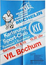 Karlsruher SC KSC VfL Bochum 1. Bundesliga 17. Juni 1995 Plakat Wildpark