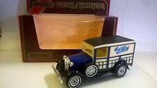 MATCHBOX 1:40 AUTO DIE CAST MODEL A FORD 1930 BLU BIANCO CREMA BARTERS Y-21 Y21