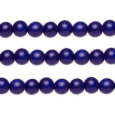 Wood Round Beads Cobalt 10mm 16 Inch Strand