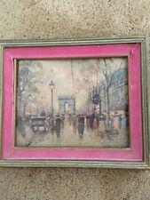 LITHO of Champs Élysées ART TREASURES Inc, NY Framed By A. Blanchard