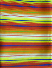 """Striped Polyester Tablecloth 100"""" x 64""""  Blue Pink Yellow White  Rectangle TU8"""