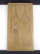 English Brass Plate for Rubbing - Sir Dallingridge & Wife - Circa 1380