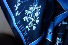 NEU Erdem x H&M Seidentuch blau/navy gemustert floral - 100% Seide!!