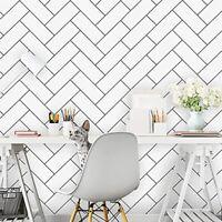 Geometric Wall paper Peel and Stick Hexagon Self Adhesive Wall Decoration.