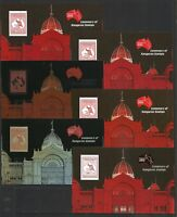 2013 Australian Stamp Centenary Set 6 Souvenir Sheets ONLY 300 SETS ISSUED MNH