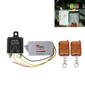 2x Wireless Remote Control Motorcycle Battery Disconnect Cut Off Isolator Master