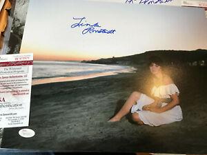 Linda Ronstadt auto JSA witness COA signed autograph 11x14 James Spence cert.