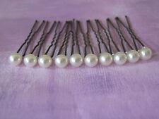 lot 10 Pics accessoires cheveux Mariée/Mariage/Soirée couleur Blanc Cassé perle