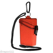 Witz Dry Box Keep it Safe Locker ID Scuba Diving Gear Bag NEW Glitter Box 2 Red