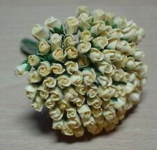 20 YELLOW CARD CRAFT ROSES 4MM FOR CARDS OR CRAFTS