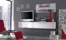 MOBILE PORTA TV SOSPESO  LACCATO  LUCIDO SOGGIORNO LCD BIANCO