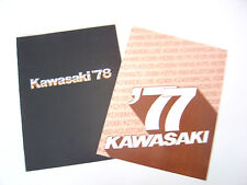 2 Kawasaki Full Line Brochures NOS.1977 and 1978. Each 4 Pages.