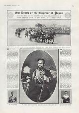 Antique Print 1912 THE DEATH OF EMPEROR OF JAPAN  MORT DE L' EMPEREUR DU JAPON
