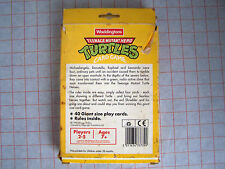 Teenage Mutant Ninja Turtles GIANT jeu de carte par Waddington (inclut 40 cartes)