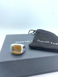 David Yurman Signet Exotic Ring Tiger's Eye 18mmx18mm size 11