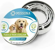 Missona Dog Flea & Tick Collar Prevention for Dogs, Adjustable 24.4in - One Size