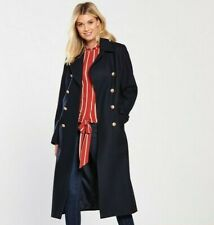 V by Very Long Military Classic Coat/Jacket in Navy UK 14/EU 42/US 10