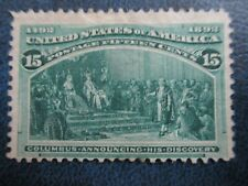 Columbian Exposition  15cent issue #238  Catalog $200