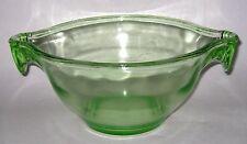Vintage U S Glass Green Depression Batter Bowl Egg Beater Rests Each Side