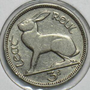 Ireland 1934 3 Pence Hare animal 197212 combine shipping