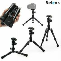 Selens Mini Table Top Adjustable Tripod Stand W/ Ball Head fit for Camera Video