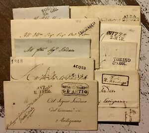 Sardegna 1820/1850 Lotto 9 Lettere Annulli Qualita