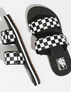 Vans // Cayucas Slides [Checkerboard/Black] ULTRACUSH (W6) #00497382