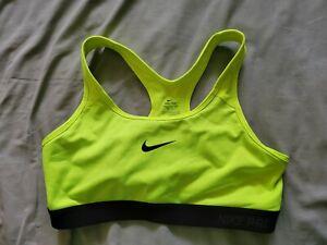 Nike Dri-Fit Sports Bra Neon Green Low Impact Bra Size Large