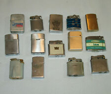 14 Vintage Lighters Sarome Penguin Romson Zippo Colvair Narudan Lot As Is