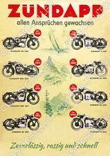 ZÜNDAPP DB DBK DS 200 K KS 250 350 500 600 800 MOTO POSTER MANIFESTO stampa immagine