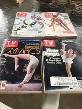 TV Guide July 1984 Summer Olympics on cover, Bruce Jenner & 3 Olympics TV guides