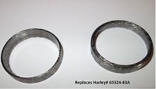 Ocp Tapered Exhaust Gaskets Pair For Harley-Davidson replaces Oem# 65324-83A