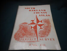 Vintage SOUTH OAKLAND COUNTY ATLAS ~ Perfect Survey Eng. Co.- Michigan Plat Map