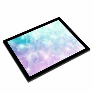 A3 Glass Frame - Abstract Diamond Crystal Fun Art Gift #2667