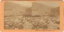 Naplouse panorama Terre Sainte Religion Stereo J. Andrieu Albumine c1870