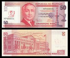 Philippines 50 Pesos 2013 UNC - Comm Canonization of San Pedro Calungsod