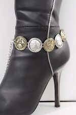 Women Silver Gold Chain Boot Bracelet Anklet Heel Shoe Baby Angel Bless Charms