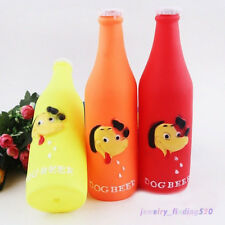 1PC Fashion Pet Dog Puppy Chew Toy Beer Bottle Squeaky Vinyl Sounder Toys Fun
