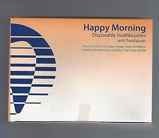 HAGER 605401 HAPPY MORNING DISPOSABLE TOOTHBRUSHES WITH TOOTHPASTE 100/BX