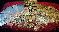 <OVER 100 Pc>CHARM,Necklaces+GOLD&SILVER Banknotes+STAMPS&COINS+FOSSILS+MORE!